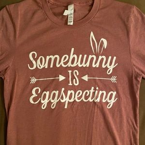 Cute Easter pregnancy announcement t-shirt